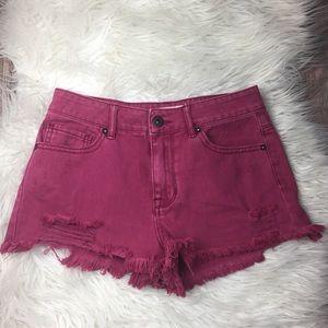 Bullhead Denim Co. High Rise Short Shorts